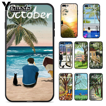 Yinuoda Month Landscape illustration New Personalized Soft Cover Case for iPhone 8 7 6 6S Plus 5 5S SE XR X XS MAX Coque Shell telephony