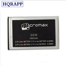 For Micromax Q334 Canvas Magnus 3.7V 1800mAh Mobile Phone Replacement Battery Batteria(China)
