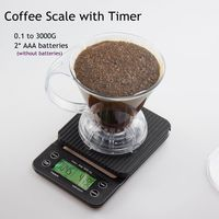 Mini Drip Digital Scale with Timer 3KG 0.1G Electrinoic Kitchen Scale Baking Table Weighting  V60 Coffee Scale