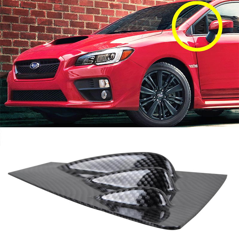 For Subaru impreza 11th Fake Carbon 2/SET Auto Car Side Window Air Vent intake Trims Sticker 2015 2016 2017 subaru traviq главный тормозной