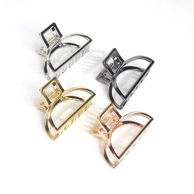 New Women Gold/Silver Hair Claw Fashion Hair Clips Ponytail Holder Stylish Hair Accessories Retro Hair Clamp Make Up Tools