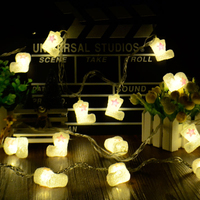 20 Led 5CM Fairy With Pink Star Boots Battery Operated String Lights 4m LED Decoration For