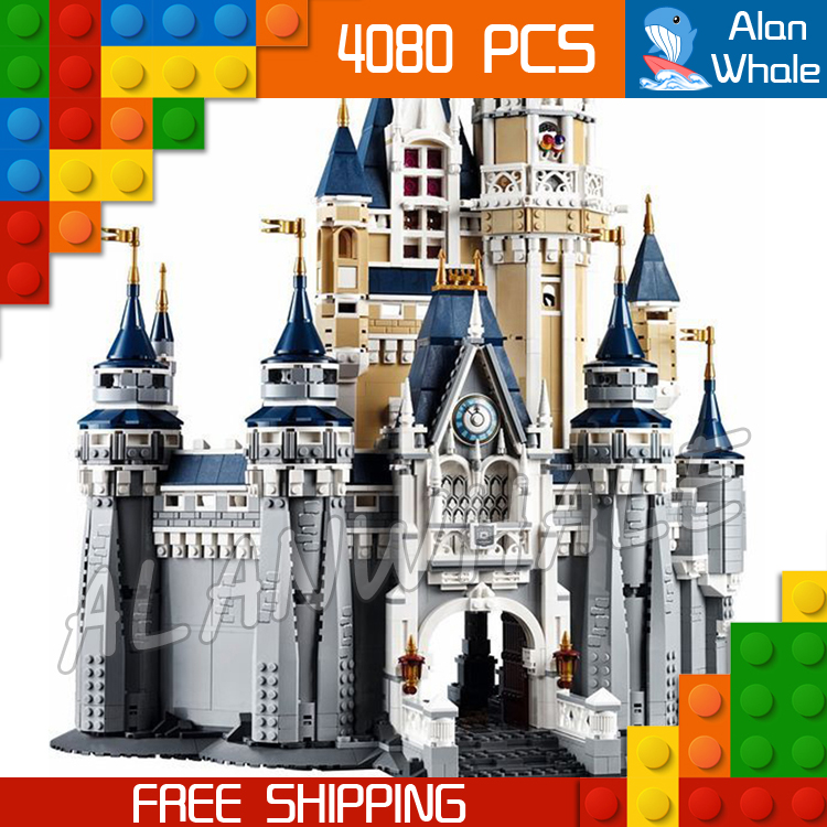 4080pcs Movie Cinderella Princess Castle City Street Creators 16008 Friends DIY Model Building Blocks Toys Compatible with Lego lepine 16008 cinderella princess castle 4080pcs model building block toy children christmas gift compatible 71040 girl lepine
