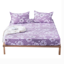 Pastoral Printed Fitted Sheet Bed Cover Home Elastic Band Mattress Hotel Non-slip Bedding Bedspread
