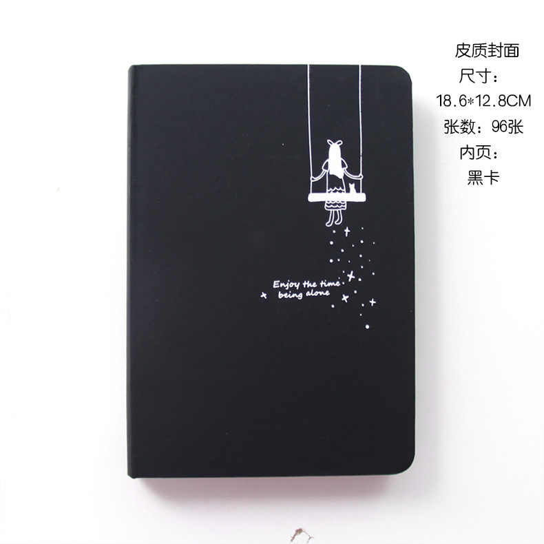 Hardcover Zodiac Sign Stars Diary Blank Paper Sketchbook Agenda Notebook Gift