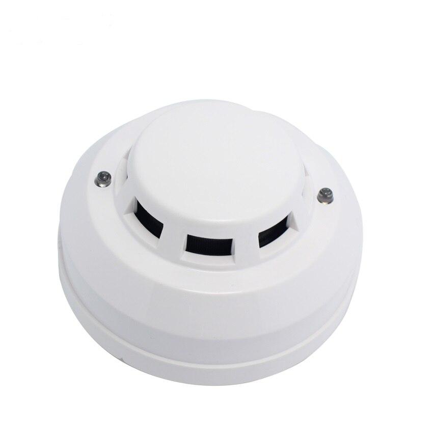 12 В DC Проводной детектор дыма optoelectirc датчик использовать для проверки огня или анти-то сжигание подключение к проводной зоны