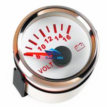 1pc Brand New 52mm Volt Meters 8-16V Voltage Gauge Voltage Meters Suitable for Auto Boat Agricultural Machinery Engines