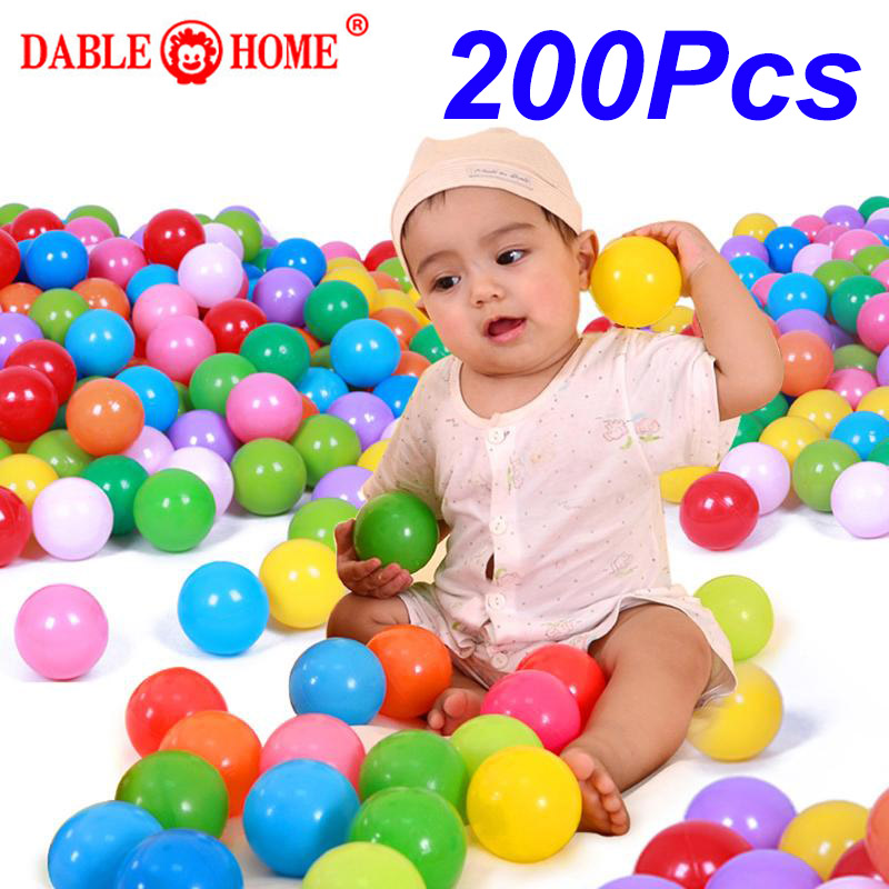 200 Pcs/bag Eco-Friendly Soft Plastic Water Pool Ocean Wave Ball Swimming Ball Pit Balls Baby Funny Toys Stress Air Ball Outdoor