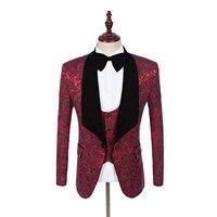 Diseños Bragas de la capa del Mantón de la Solapa Del Novio Esmoquin Negro/Blanco/Rojo/Azul de Los Hombres Trajes de Boda Mejor Hombre Chaqueta (Jacket + Pants + Vest)