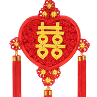 Chinese knot Pendant Decorative Tassel Large New Year Gift Heart Shape Happiness Household Housewarming New House Chinese Knots