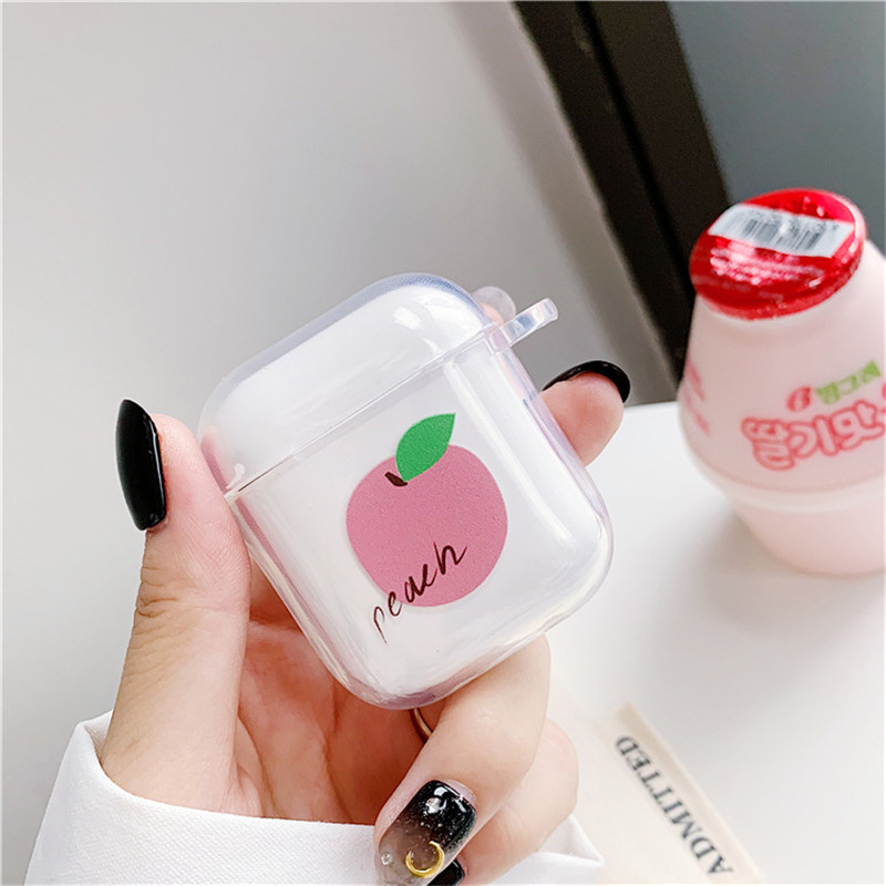 Image 2 - Summer Fruit Pattern Case For Airpods Cute Earphone Cover For AirPods Cartoon Bluetooth Headset Bag Soft TPU Silicone Cover Capa-in Earphone Accessories from Consumer Electronics