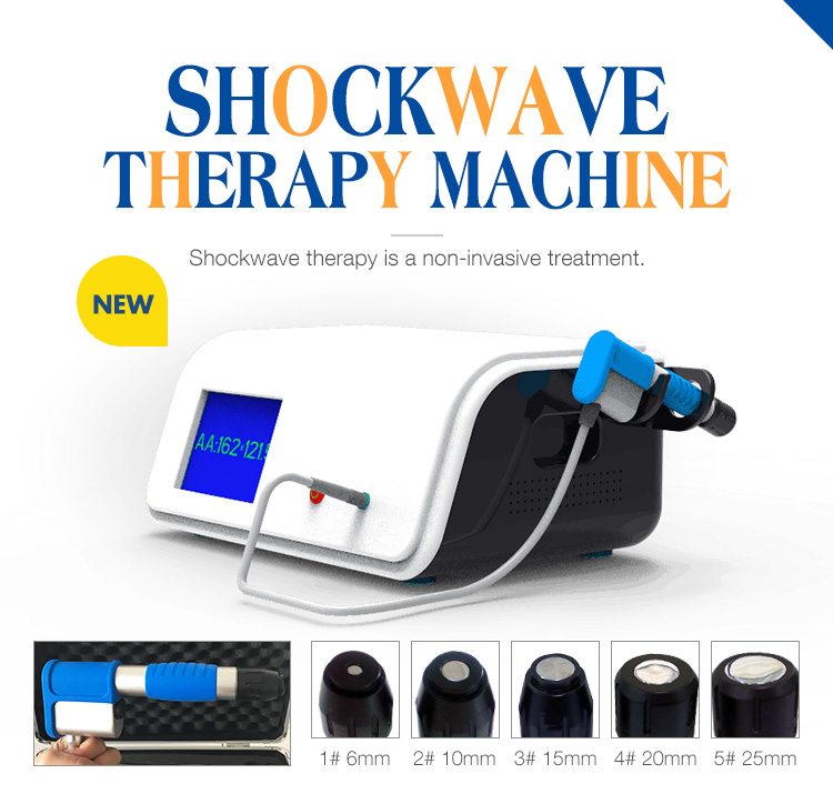 Nouvelle Génération Compresseur 8 Bar Radial Type ESWT Dispositif Extracorporea Shock Wave Therapy Machine pour Soulager La Douleur