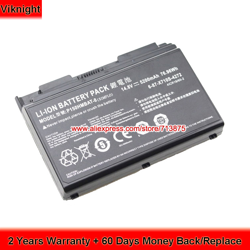 P150HMBAT-8 X710S Battery for Clevo P170SM P170EM P170HM 6-87-X710S-4271 clevo p150hmbat 8 battery for p150em 6 87 x510s 4d72 6 87 x510s 4d73 x510s eon17 s clevo laptop batteries