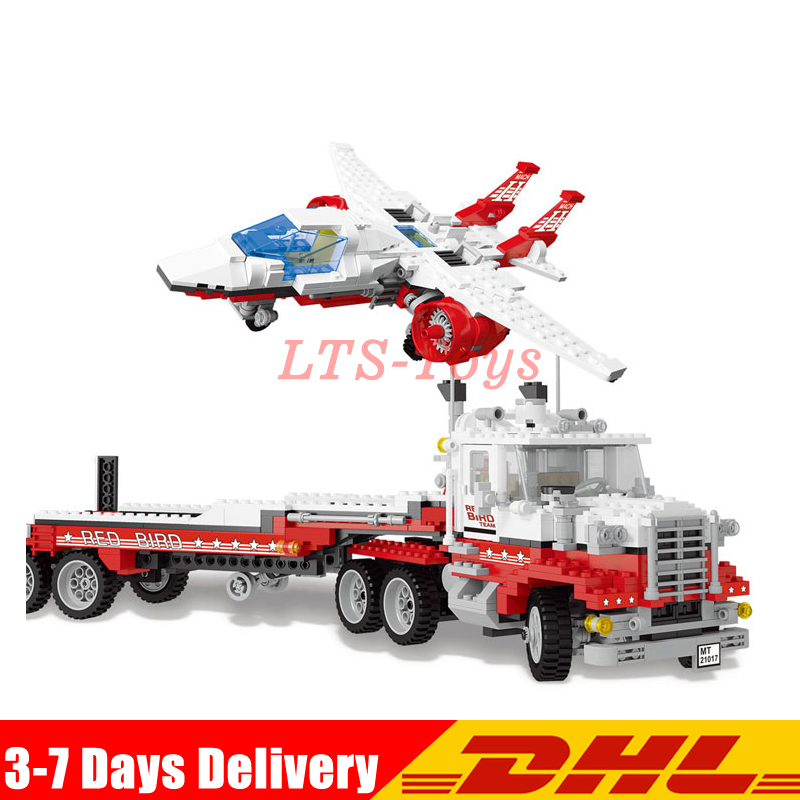 DHL Lepin 21017 1206Pcs Genuine Model Series The Mach II Red Bird Rig Set Children Educational Building Blocks Bricks Toys compatible legoe genuine model series 5591 lepin 21017 1206pcs mach ii red bird rig building blocks bricks toys for children
