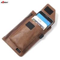 Effelonヴィンテージ多機能ウエスト財布バッグ用サムスン/iphoneベルトクリップポーチホルスターケースカバー用下記6.3 ''電話
