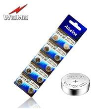 40x Wama AG10 1.55V Button Cell Batteries 389 SR54 LR54 SR1130W Akaline Watch Coin Battery Disposable