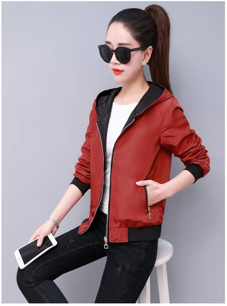 HTB1vLS9XEGF3KVjSZFvq6z nXXaL Windbreak Jacket Women Long Sleeve Hooded Coats Spring Autumn Casual Solid Zip Up Basic Jackets for Women