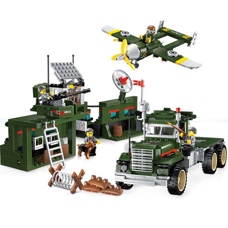 687pcs 어린이 교육 빌딩 블록 장난감 호환 legoingly 도시 군사 시리즈 모바일 전투 차량 인물 벽돌-에서블록부터 완구 & 취미 의  그룹 1