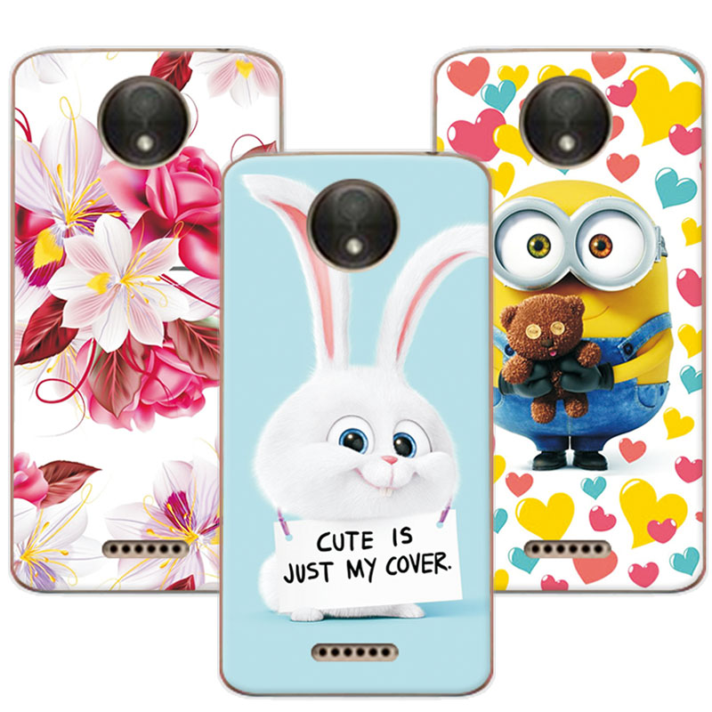 Cute Cartoon Soft TPU Coque For Motorola Moto C Plus Colorful Mermaid Cover For Funda Moto C Plus XT1723 XT1724 5.0