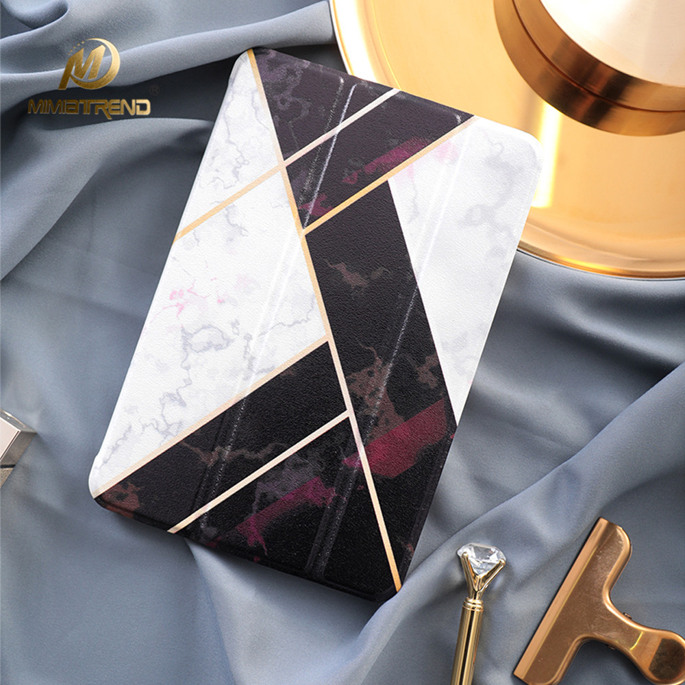 Mimiatrend Diamond Stand Design PU Leather Case for iPad mini 2 3 4 Smart Cover Smartcover for iPad 2 4 5 + Protective film foldable pu leather pad cover with flower girl driving style inlaid diamond support stand for ipad mini 3