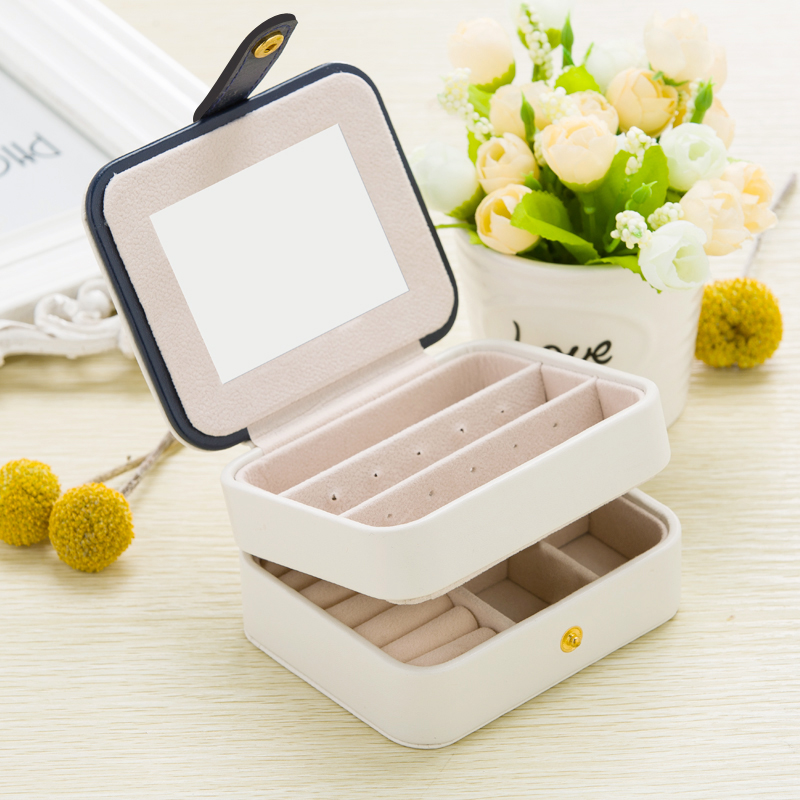 Jewelry Casket Packaging Box Makeup Organizer Box For Exquisite Cosmetic Beauty Case Container Boxes Graduation etc. Events Gift