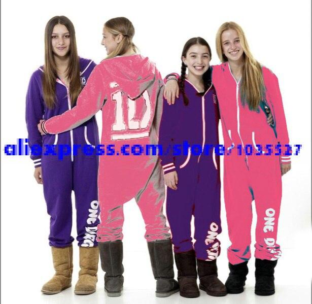 abf12aec7 2015 NEW GIRLS ONE DIRECTION 1D ONESIE SLEEPSUIT WINTER PJ PYJAMAS ...