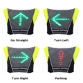 Велосипедный беспроводной светодиодный светильник с дистанционным управлением поворотная сигнальная лампа Подвеска на рюкзак Ночная езд...