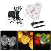 Solar Verlichting Strings 20 LED Lantaarn Lichtslingers IP65 Festival Indoor/Outdoor DIY Verlichting Decoratie