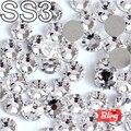 SS3 (1.3-1.4mm) 3D Nail Art Crystal Clear Hotfix Rhinestones Brillantes Piedras Flatback Loose Strass Para la Decoración de Uñas H0258