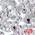 SS3 (1.3-1.4mm) 3D Nail Art Rhinestones Shiny Crystal Clear Non HotFix Stones Flatback Loose Strass For Nails Decoration H0258
