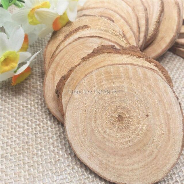30pcs diamenter 5 6cm wood log sheet rustic wedding wood tags wedding decoration mariage wedding - Aliexpress Decoration Mariage