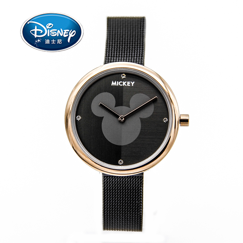 Disney Women Ladies Watch Brand Luxury Children Clock Kids Watch Quartz Wristwatches Stainless Steel Girls Boys Mickey Gift 2016 spider cartoon watch children kids wristwatch boys clock child gift leather wrist watch quartz cartoon watch quartz watch