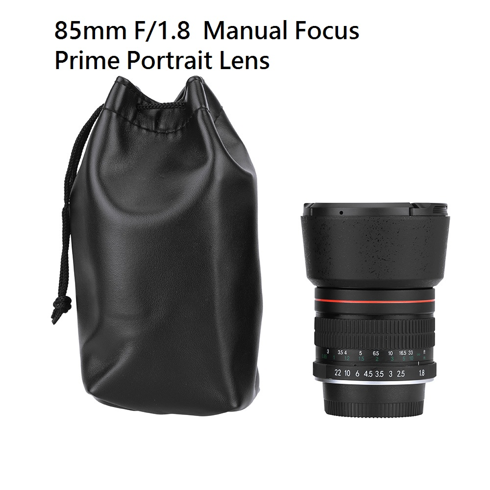 Lightdow 85mm f/1.8 Manual Focus Portrait Lens Camera Lens for Nikon DSLR D800 D600 D7200 D7100 D7000 D5100 D5000 D3100 Etc 85mm f1 8 aluminum alloy manual focus lens set for canon black