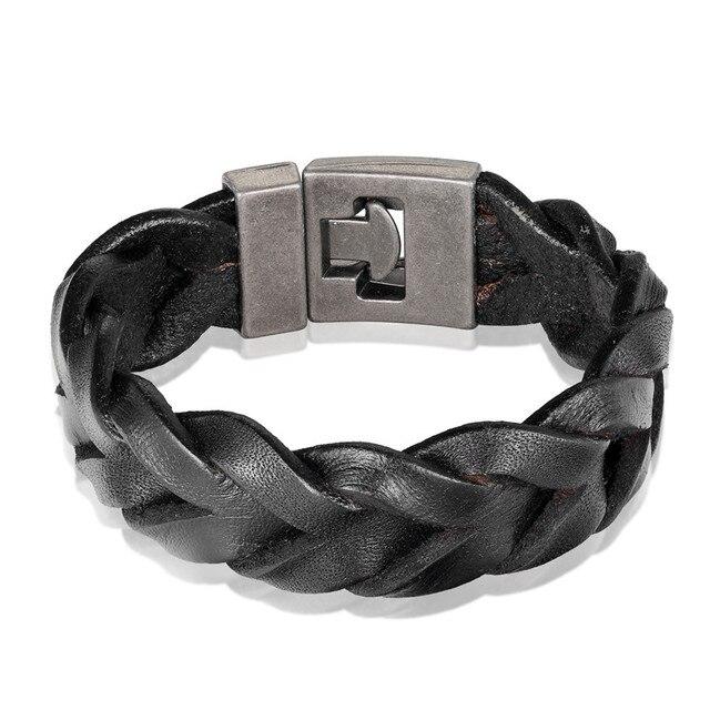 Новый модный кожаный браслет janeyacy мужской Женский Повседневный