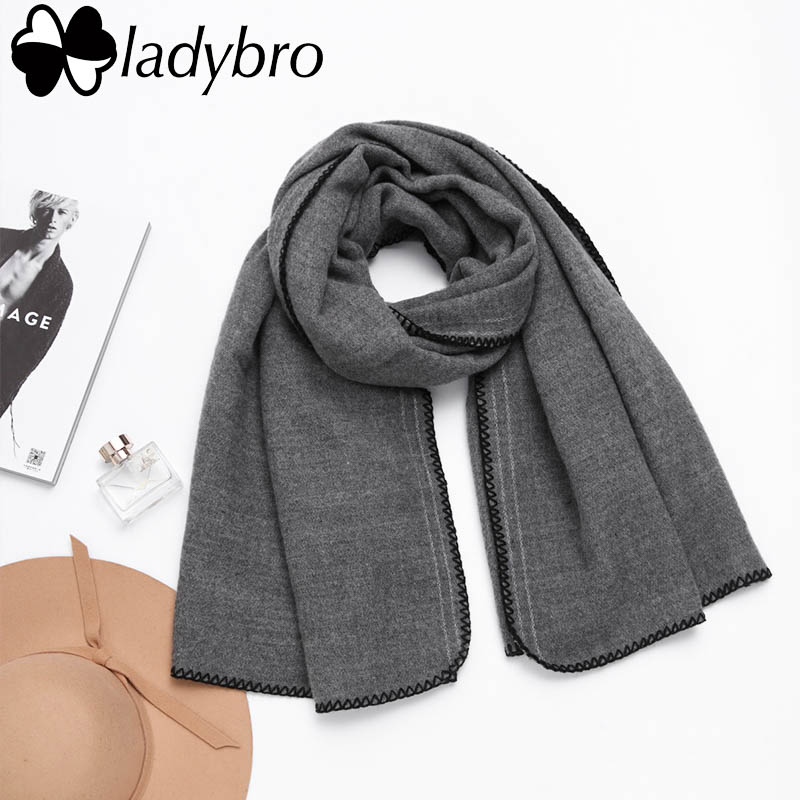 Ladybro High Quality Women Scarf Winter Brand Embroidered Big Blanket Scarf Female Winter Lady Long Thick Shawls And Scarves