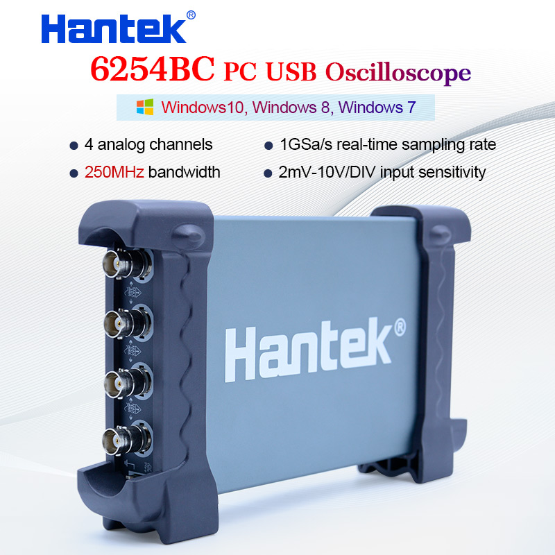 Hantek 6254BC PC USB Oscilloscope 4 CH 250MHz 1GSa s waveform record and replay function