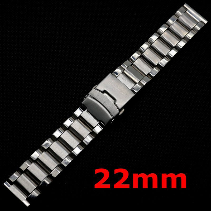 2017 Hot Silver Stainless Steel Watch Band Strap Straight End Bracelet 22mm Strap For Hours 22mm solid stainless steel wristband watch bracelet silver polishing new band for armani ar0399 316l stainless steel