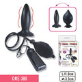 C41E-380 100% waterproof  inflated vibrating anal plugs with  sex toys for man and woman adult products for games