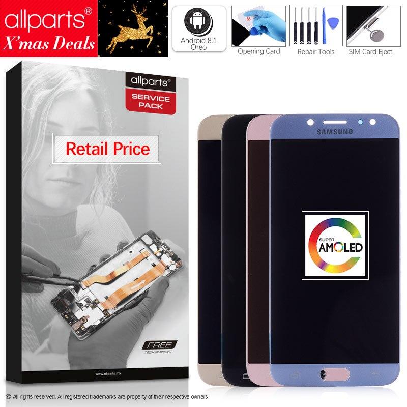 Original 5,5 ''AMOLED Display für SAMSUNG Galaxy J7 Pro J730 LCD Für SAMSUNG J7 2017 Display Touchscreen Digitizer j730F