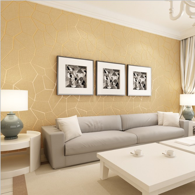 Suede 3D Modern Textured Wallpaper Rolls Background Geometric Silver ...