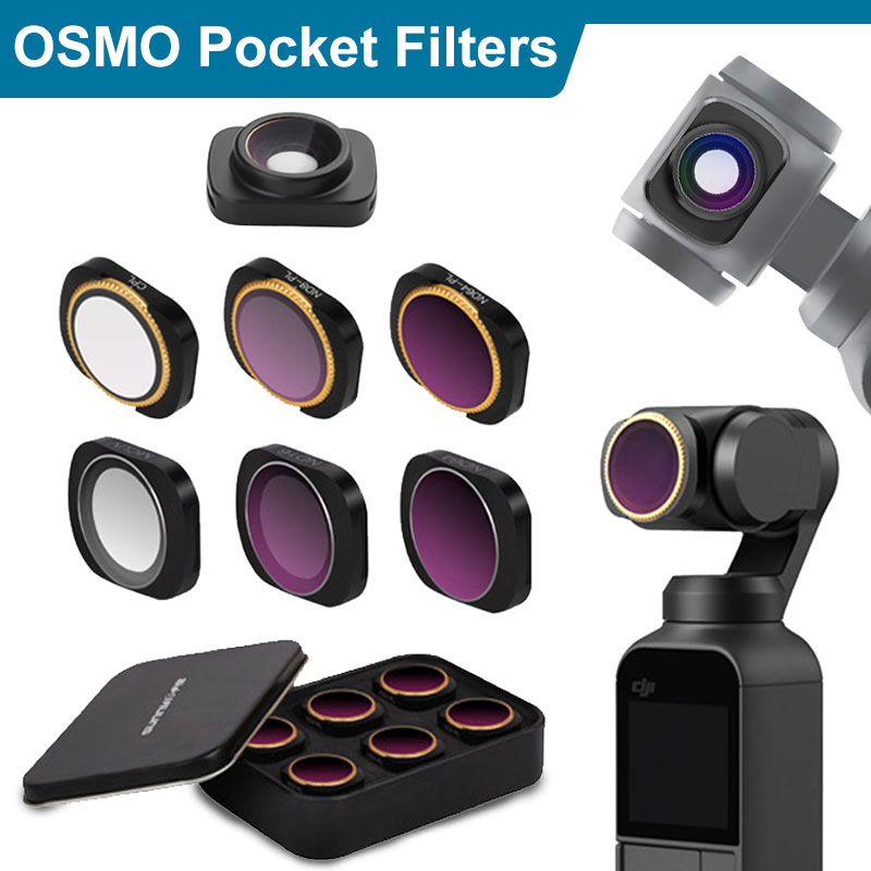 for DJI OSMO Pocket Accessories MCUV CPL ND4 ND8 ND16 ND32 ND64 Camera Lens Filter for DJI OSMO Pocket Gimbal Camera CPL