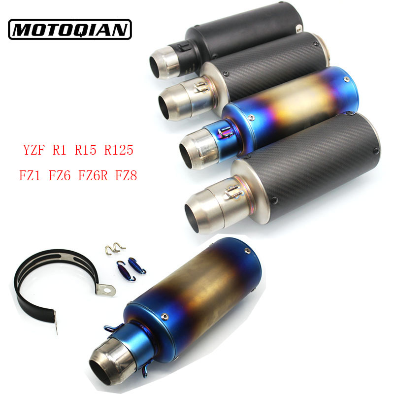 Universal Motorcycle 51mm Exhaust Pipe Muffler Escape Modified For Yamaha R1 R15 R125 YZF FZ1 FZ6 FZ6R FAZER FZ8 Accessories