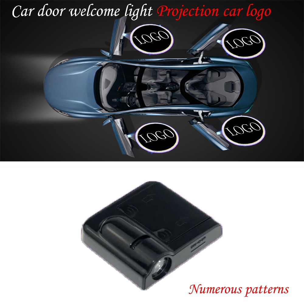 Self Adhesive Ghost Lights for Door 2pcs Car Projection LED Projector Door Shadow Light For Acura Smart Sensor Courtesy Emblem Laser Open or Exit Logo Light Lamps,Compatible for Honda Acura