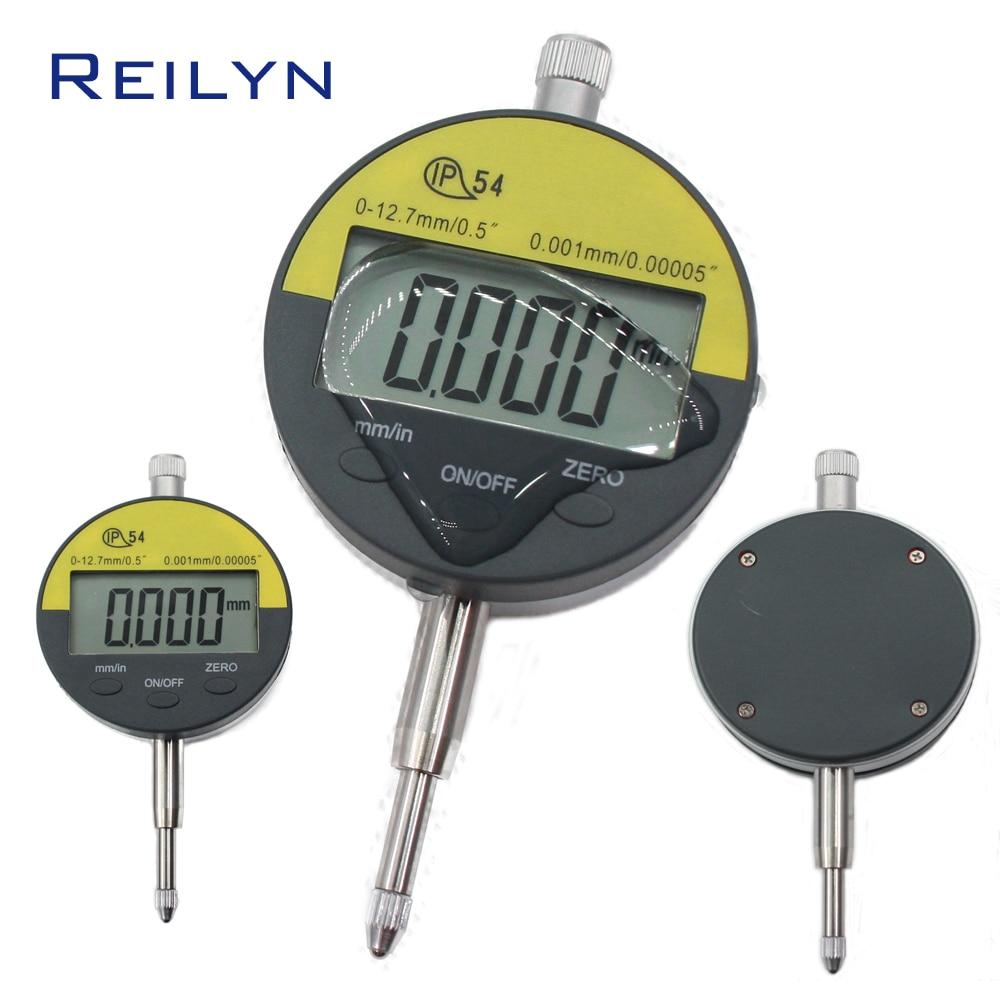 Электронный цифровой микрометр Калибр 0,5 дюймов (0-12,7 мм) ЖК-дисплей дисплей 0,001 мм электронный цифровой индикатор цифровой стрелочный индик...