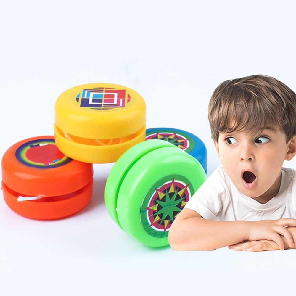 1 pçs yoyo bola crianças mecanismo de embreagem tambor forma yo-yo brinquedos para crianças brinquedo festa jogar brinquedo presentes equilíbrio mão brinquedos cor aleatória