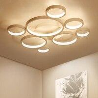 Современный светодиодный потолочный огни освещения потолка кольцо лампы для гостиной спальня ресторан кухня ванная заподлицо Indoor