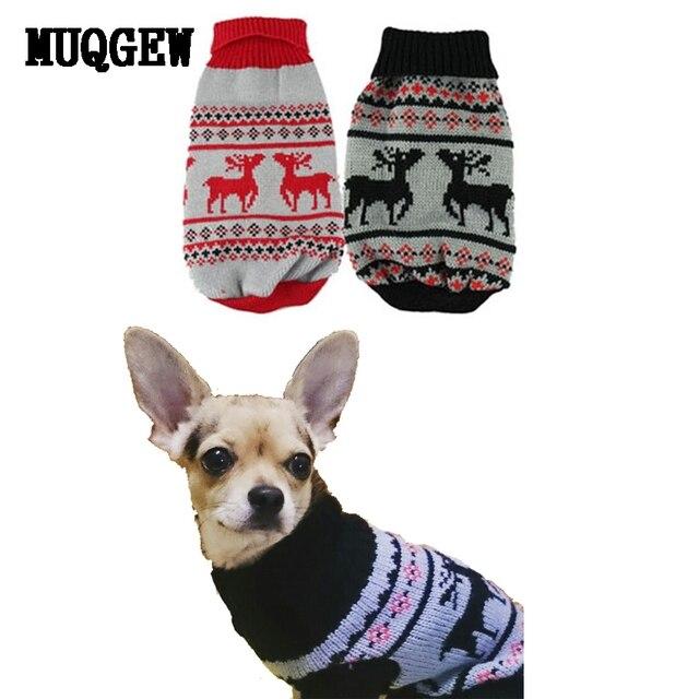 Kersttrui Hond.Muqgew Hond Kleren Winter Chihuahua Puppy Kleding Kat Voor Kleine