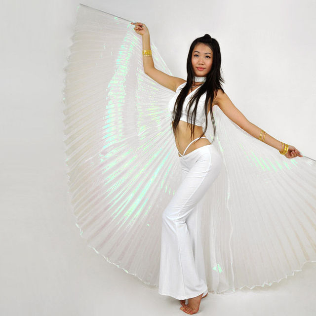 New Arrival Egyptian Isis Wings Polyster Material Elegant Angel Egypt Professional Belly Dance Costume Accessories