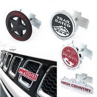 Car Front Grill Trim Sport Strip Cover Sticker For Jeep Renegade Compass Wrangler JK 4x4 Grand Cherokee Chevrolet Ford Focus 2 3