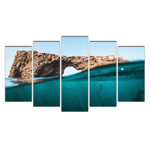 Canvas Painting Vintage Wall Art Frame Printed Pictures 5 Panel Seascape Poster Photo For Living Room Decor